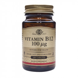 SOLGAR VITAMIN B12 100 MCG, 100 tablet